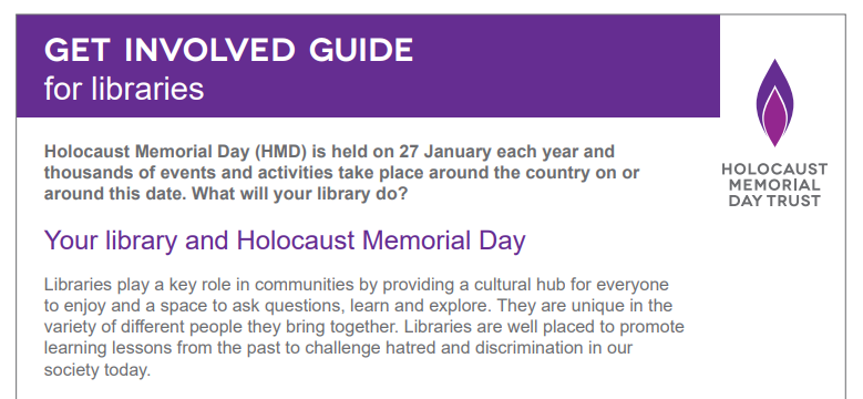 Your library and Holocaust Memorial Day