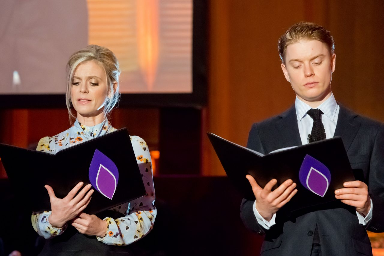Actors Emilia Fox and Freddie Fox read testimony from Polish Jewish girls who were murdered in the Holocaust.