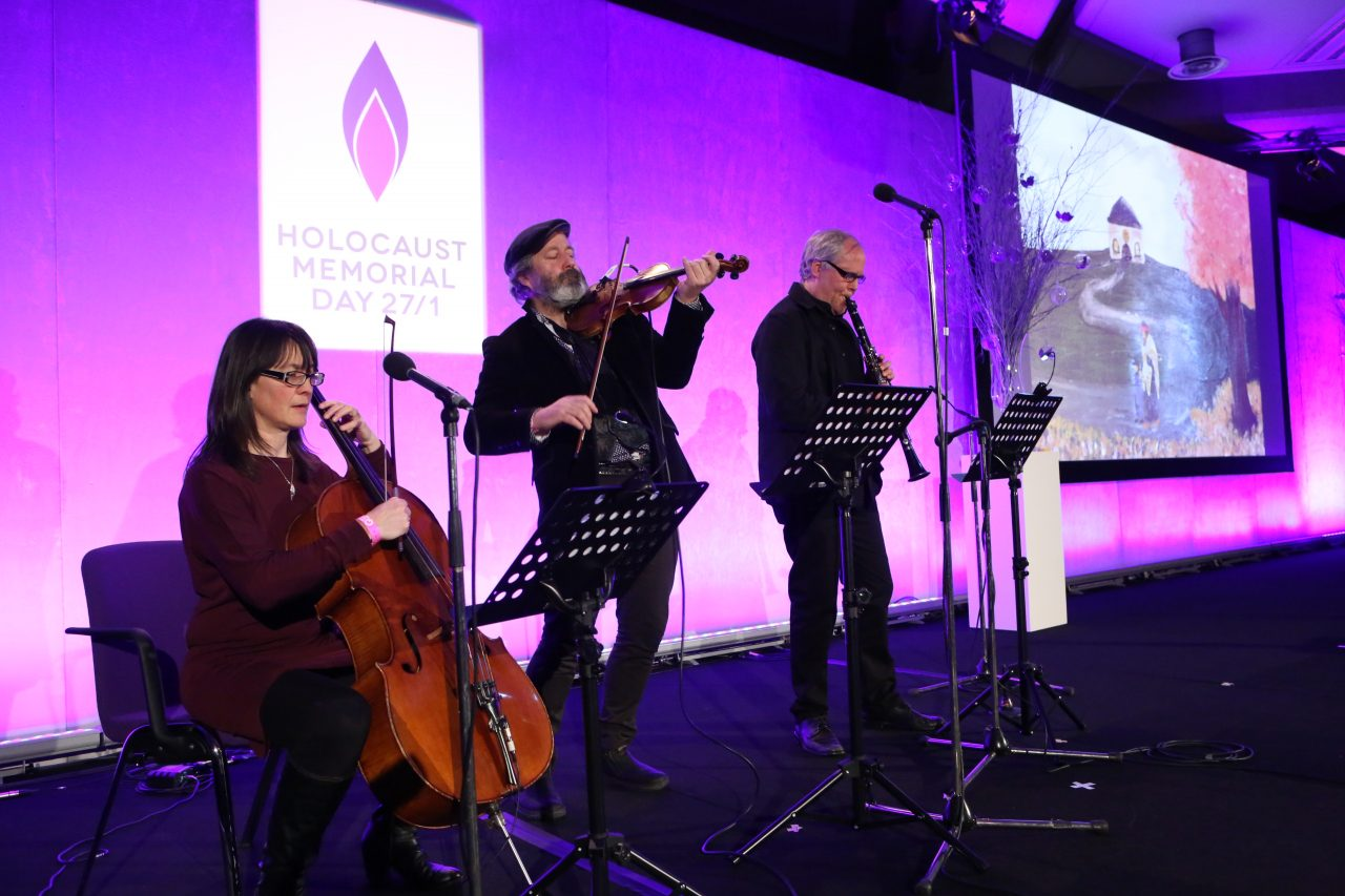 Steve Wickham and his band performed The Special Places in Our Lives. Artwork was produced for Holocaust Memorial Day by students who had been excluded from mainstream schools. They were led by Holocaust educator Tony Coles and his colleagues.