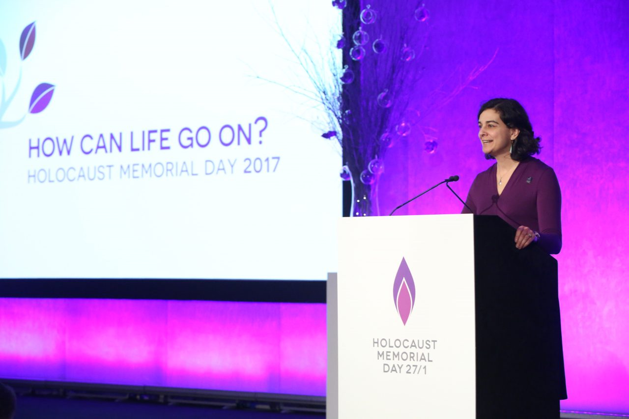 The ceremony was introduced by Olivia Marks-Woldman, Chief Executive of Holocaust Memorial Day Trust.