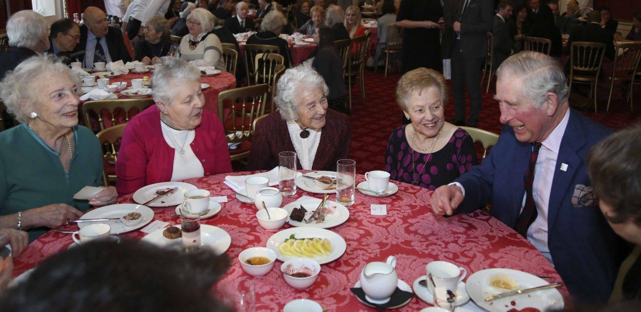 (L-R) Henrietta Franks, Jill Pivnic, Judith Kerr OBE, Marie Obuchowski and His Royal Highness