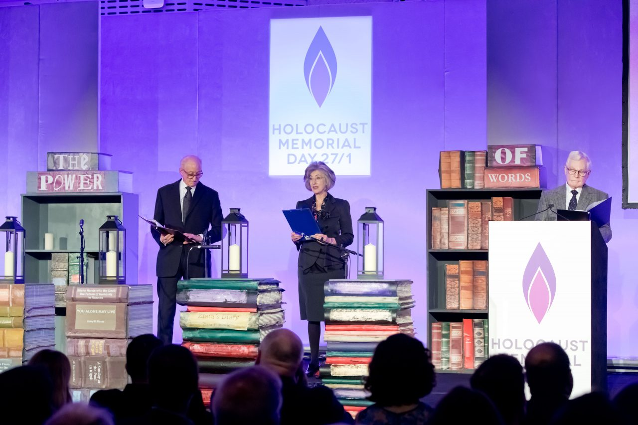 The letters of Vera Schaufeld, survivor of the Holocaust, were read by Charles Dance OBE, Sir Derek Jacobi CBE, and Maureen Lipman CBE.