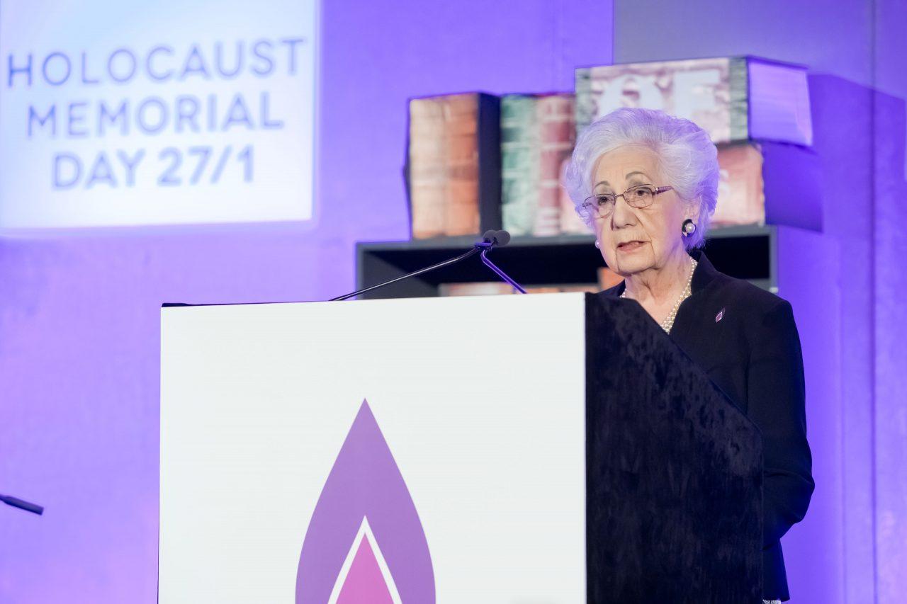 Survivor of the Holocaust, Helen Aronson, shared her story.