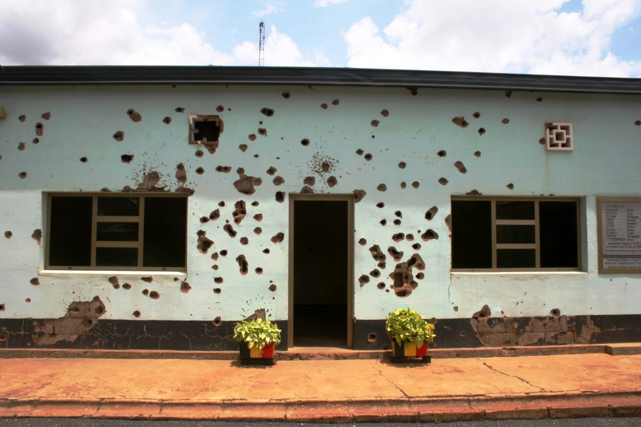 The military camp in Kigali where 10 Belgian peacekeepers were tortured and murdered at the beginning of the genocide © Andrew Sutton