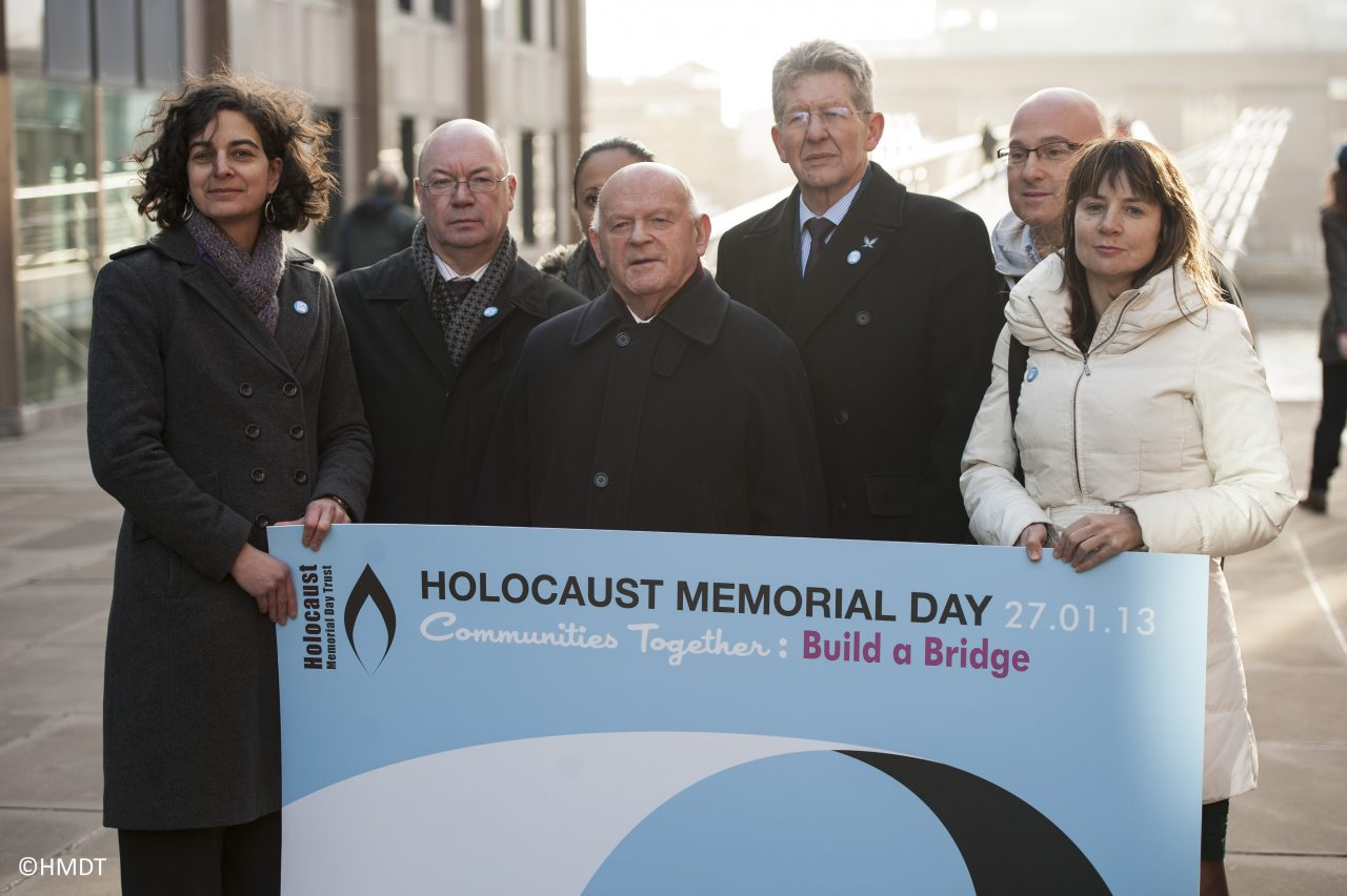 Holocaust Memorial Day 2013 marked at the Millennium Bridge