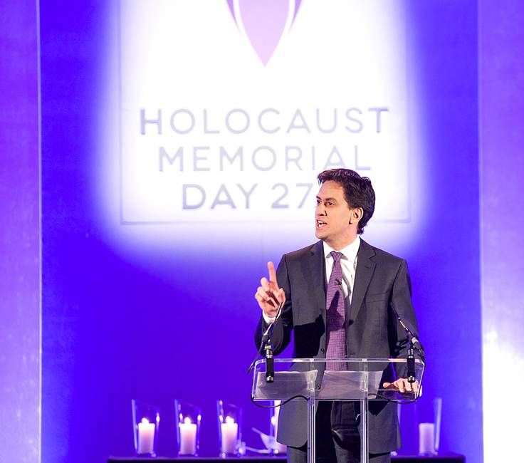 Ed Miliband joins survivors at the UK Commemorative Event for Holocaust Memorial Day