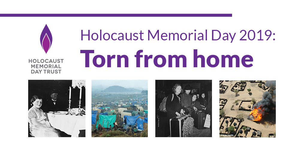 We launch the theme for Holocaust Memorial Day 2019: Torn from home