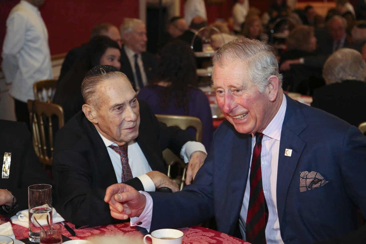 The Prince of Wales welcomes survivors to St James's Palace