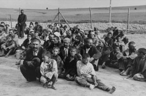 Roma and Sinti prisoners. Image: © USHMM