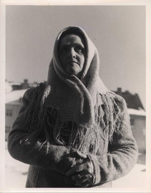 Woman at Displaced Persons Camp