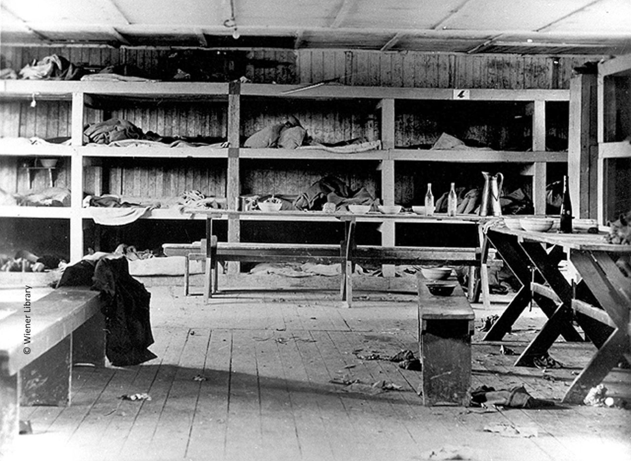 Sleeping bunks in Buchenwald