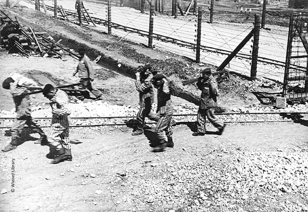 Slave labourers Krakow-Plaszow camp
