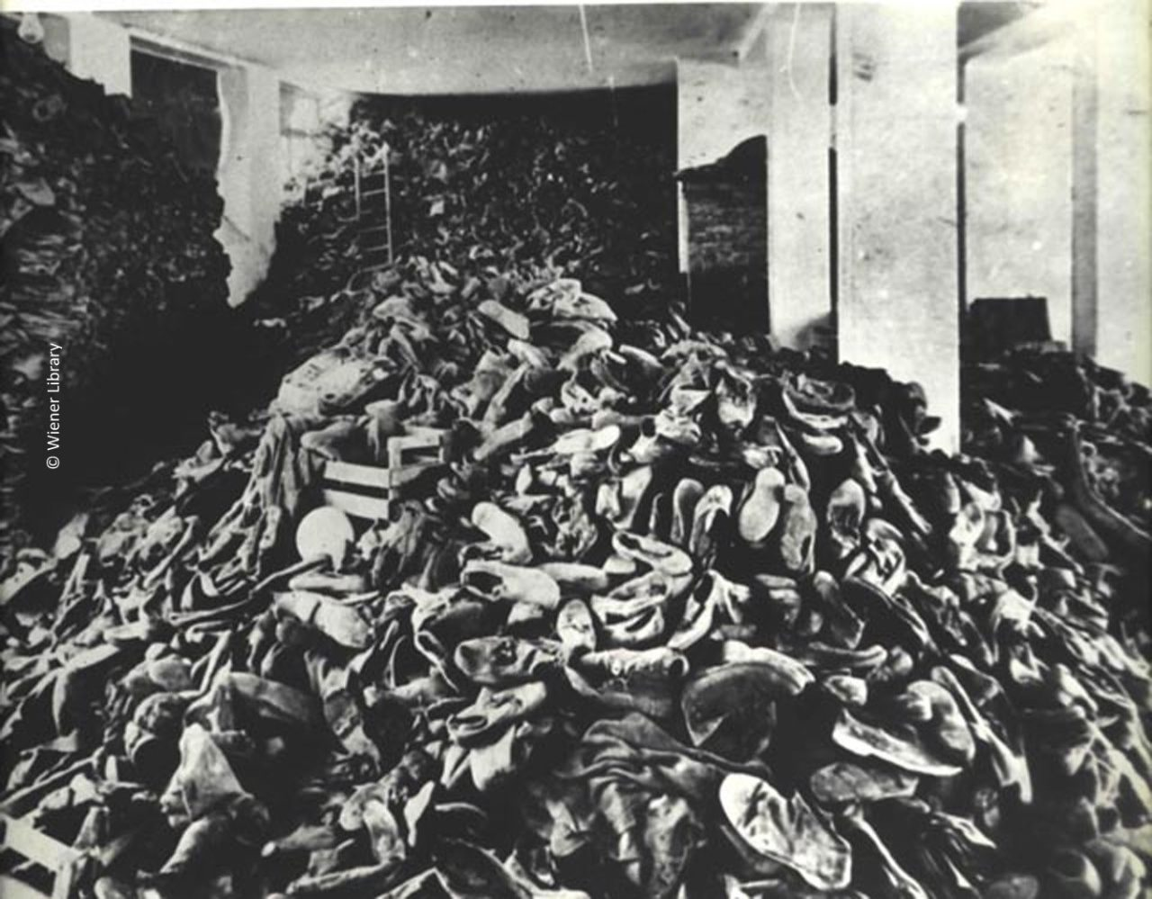 Shoes from inmates at Auschwitz-Birkenau