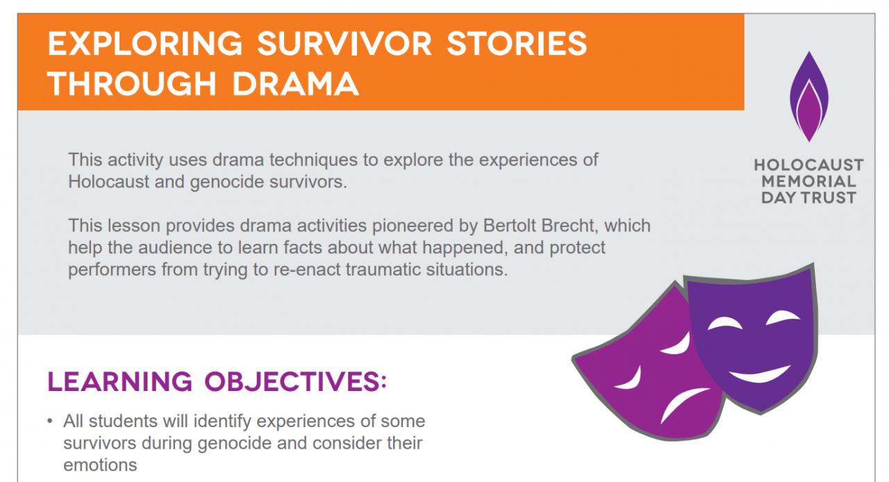 HMD drama lesson plan