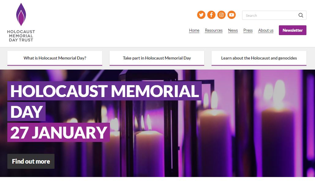 Welcome to the new Holocaust Memorial Day Trust website