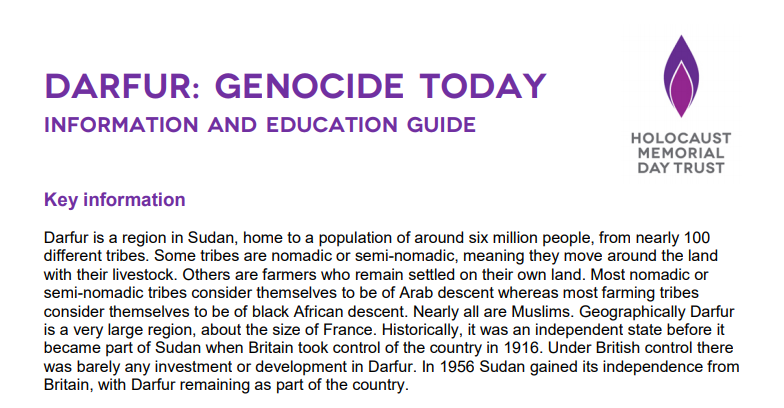 Darfur: Genocide Today - a free education and information guide