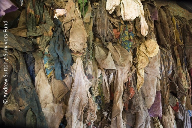 Recovered clothes of victims © Andrew Sutton