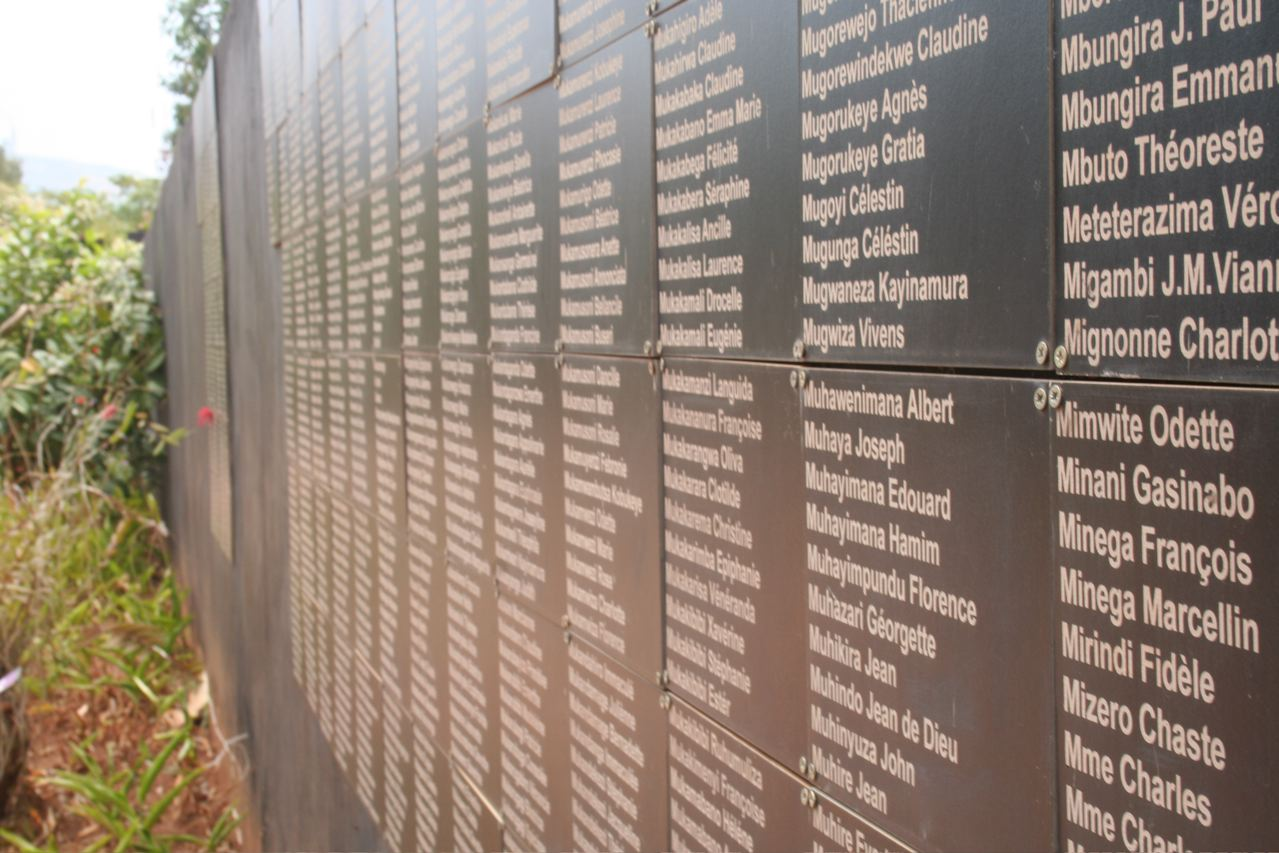 Kigali memorial center names of those murdered © Andrew Sutton