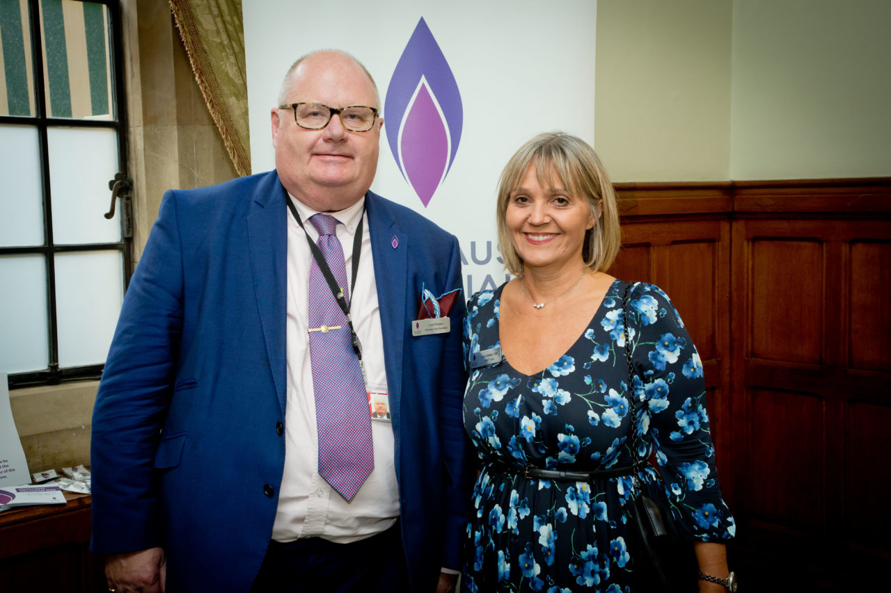 Lord Pickles - HMDT's Honorary Vice President - with Laura Marks OBE - Chair of HMDT