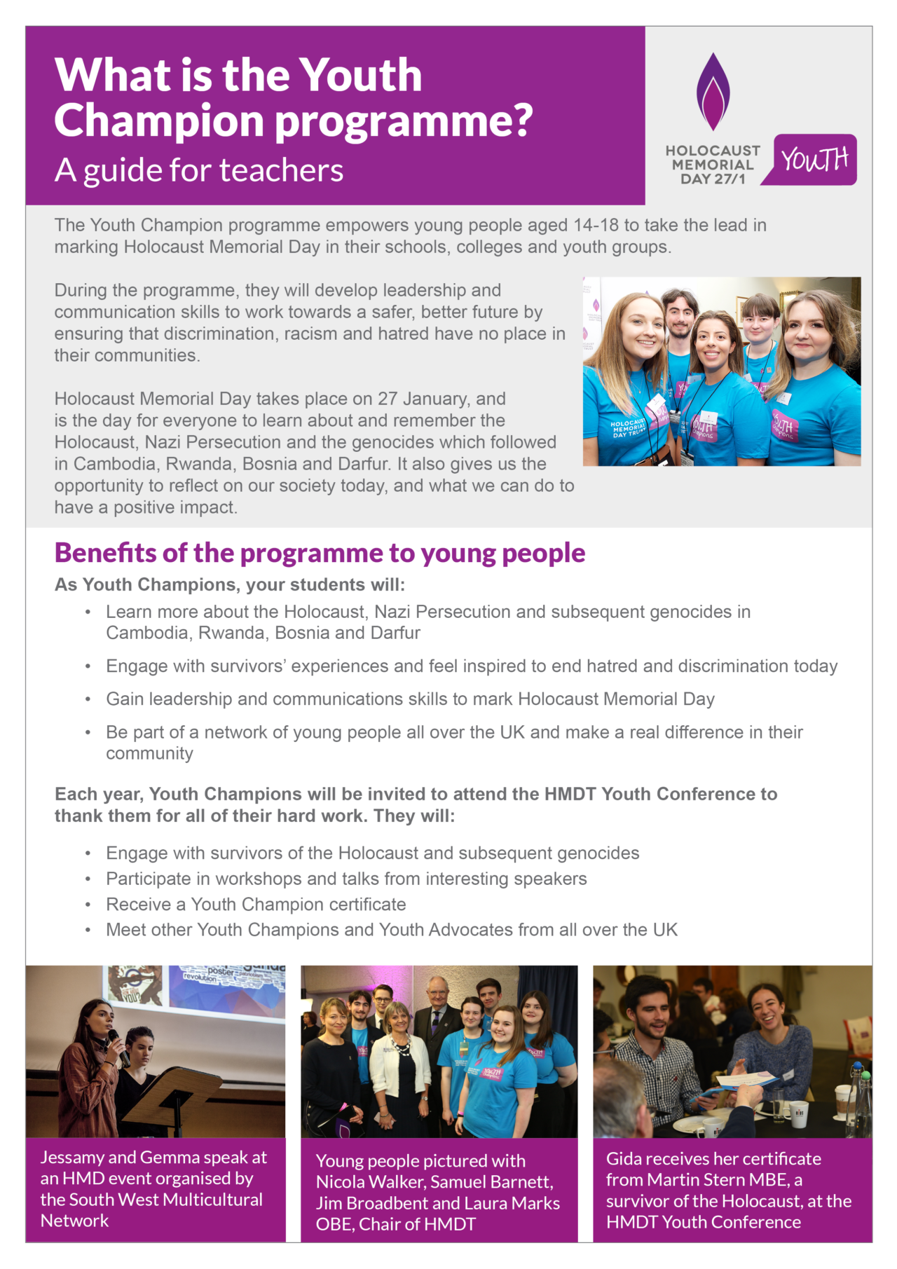 Teacher guide - Youth Champion programme