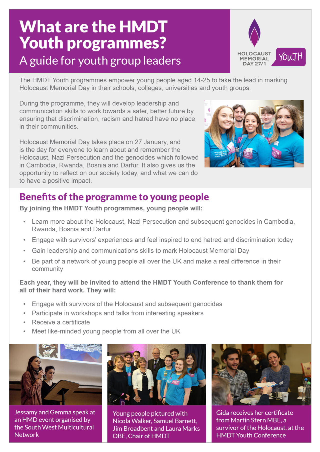 Youth leader guide - HMDT Youth programmes