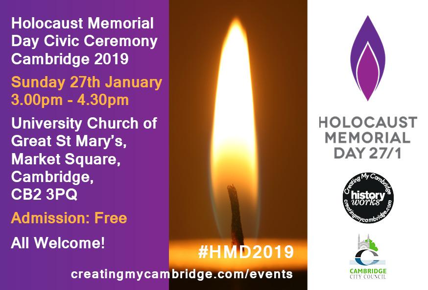 Cambridge Holocaust Memorial Day Civic Ceremony