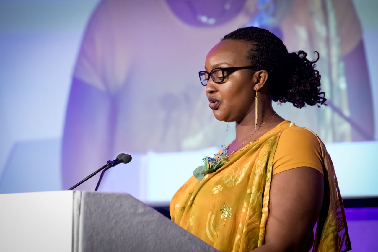 Survivor of the Genocide in Rwanda, Marie Chantal Uwamahoro, spoke about her experiences.