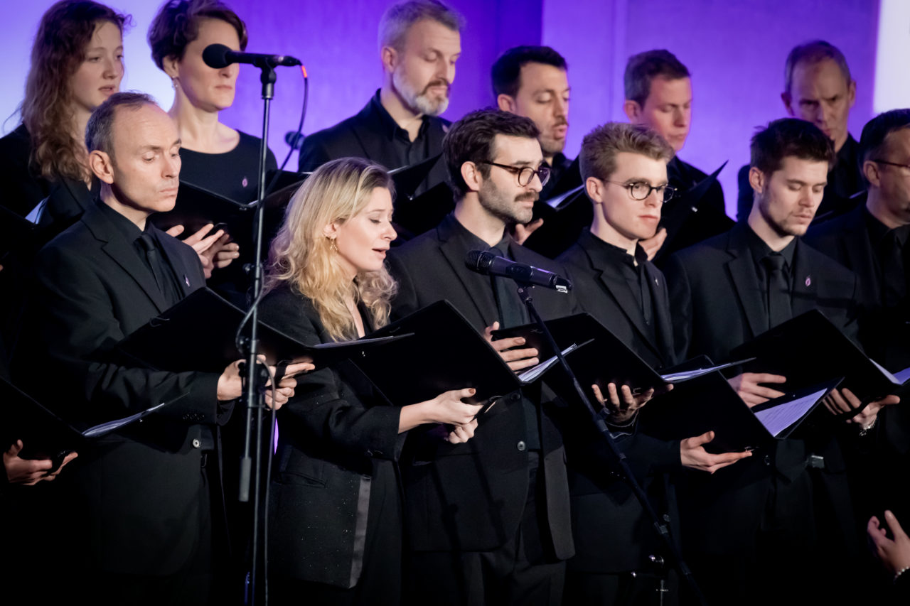 The Fourth Choir (a LGBT choir) performed Even When He is Silent and Somewhere Over the Rainbow.