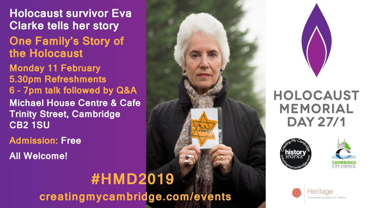 Cambridge Tea & Talk with Holocaust Survivor, Eva Clarke