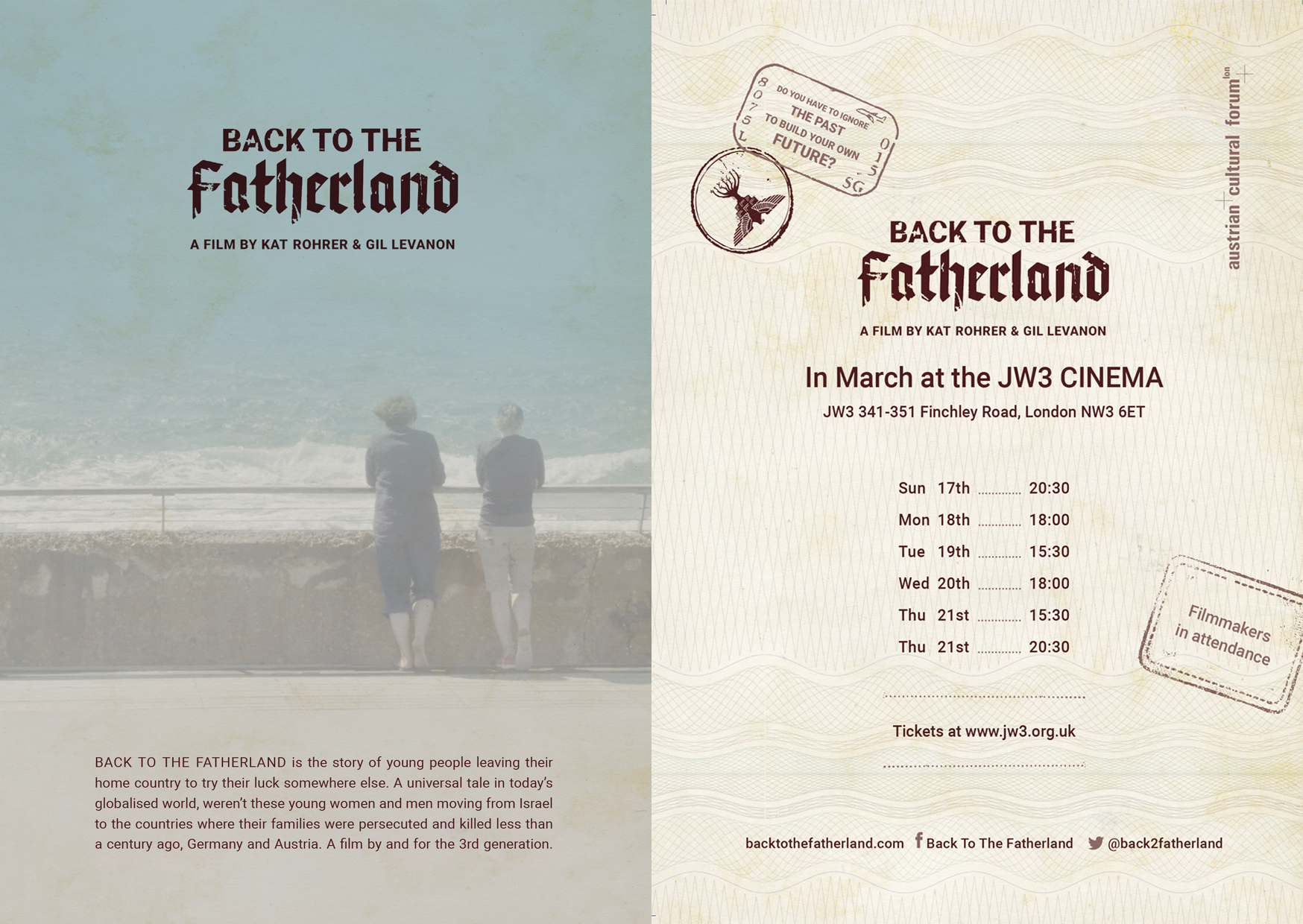 Screening of Back to the Fatherland at JW3