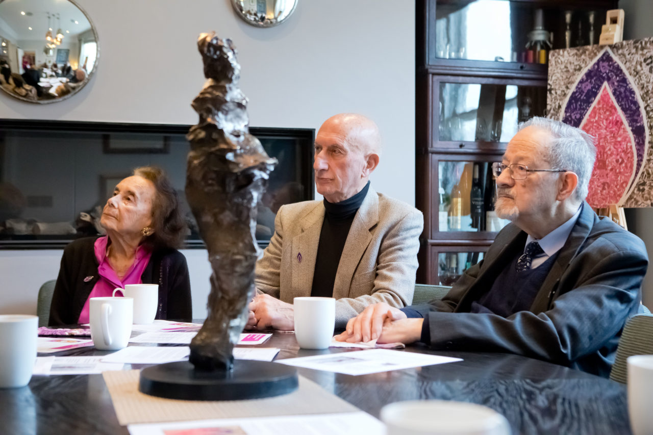 Lily Ebert BEM, Maurice Blik and Martin Stern MBE, survivors of the Holocaust