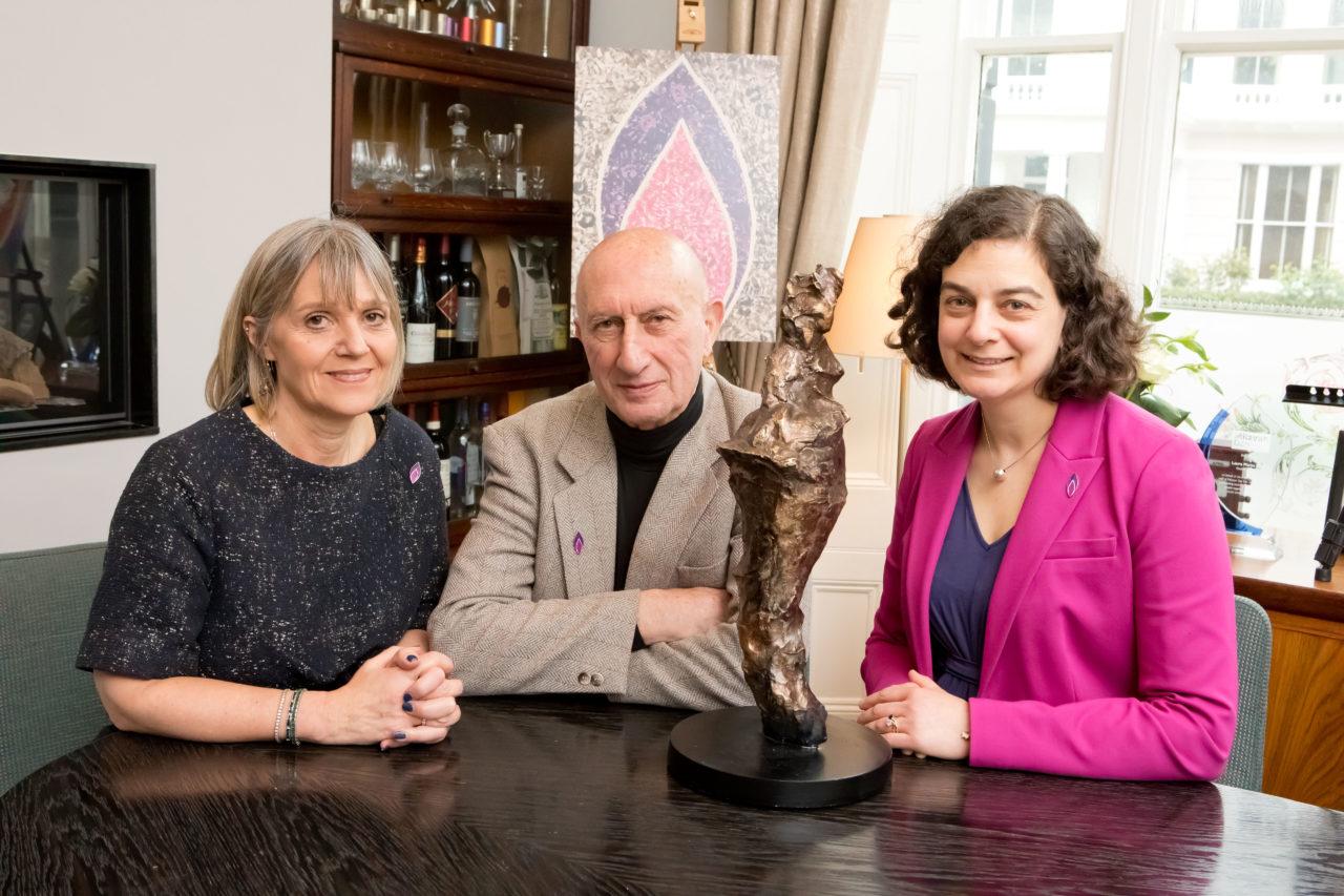 Laura Marks OBE, Maurice Blik and Olivia Marks-Woldman