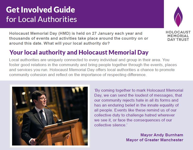 Your local authority and Holocaust Memorial Day