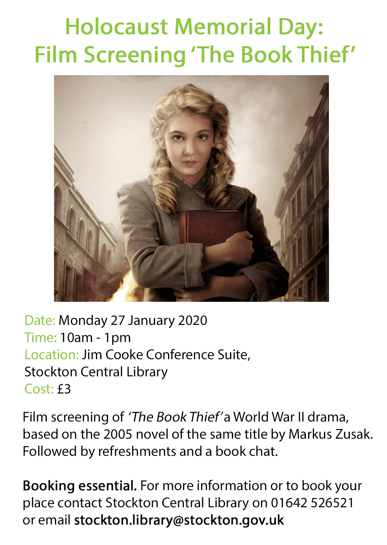 The Book Thief - Film Screening and book chat