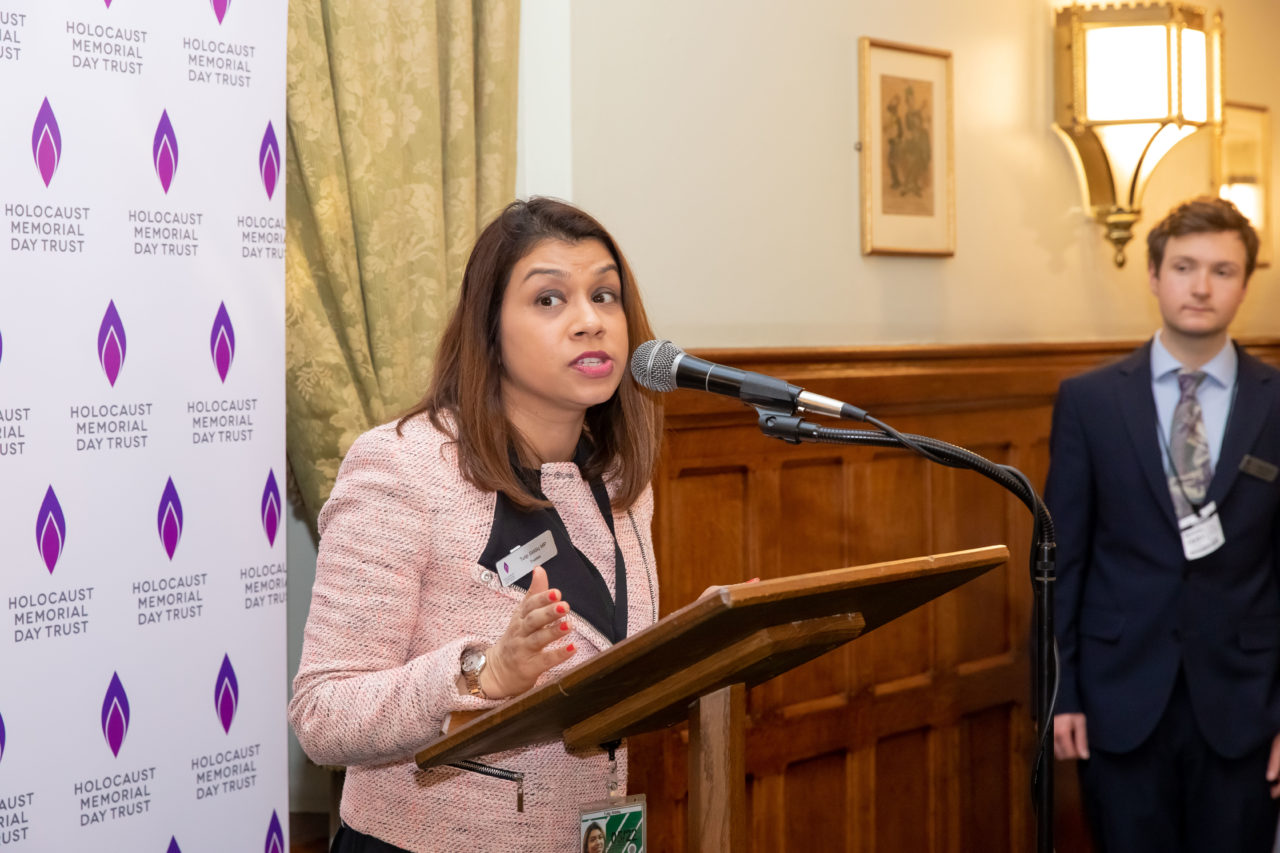 Tulip Siddiq MP, HMDT Trustee and host of our Parliamentary Reception for HMD 2020
