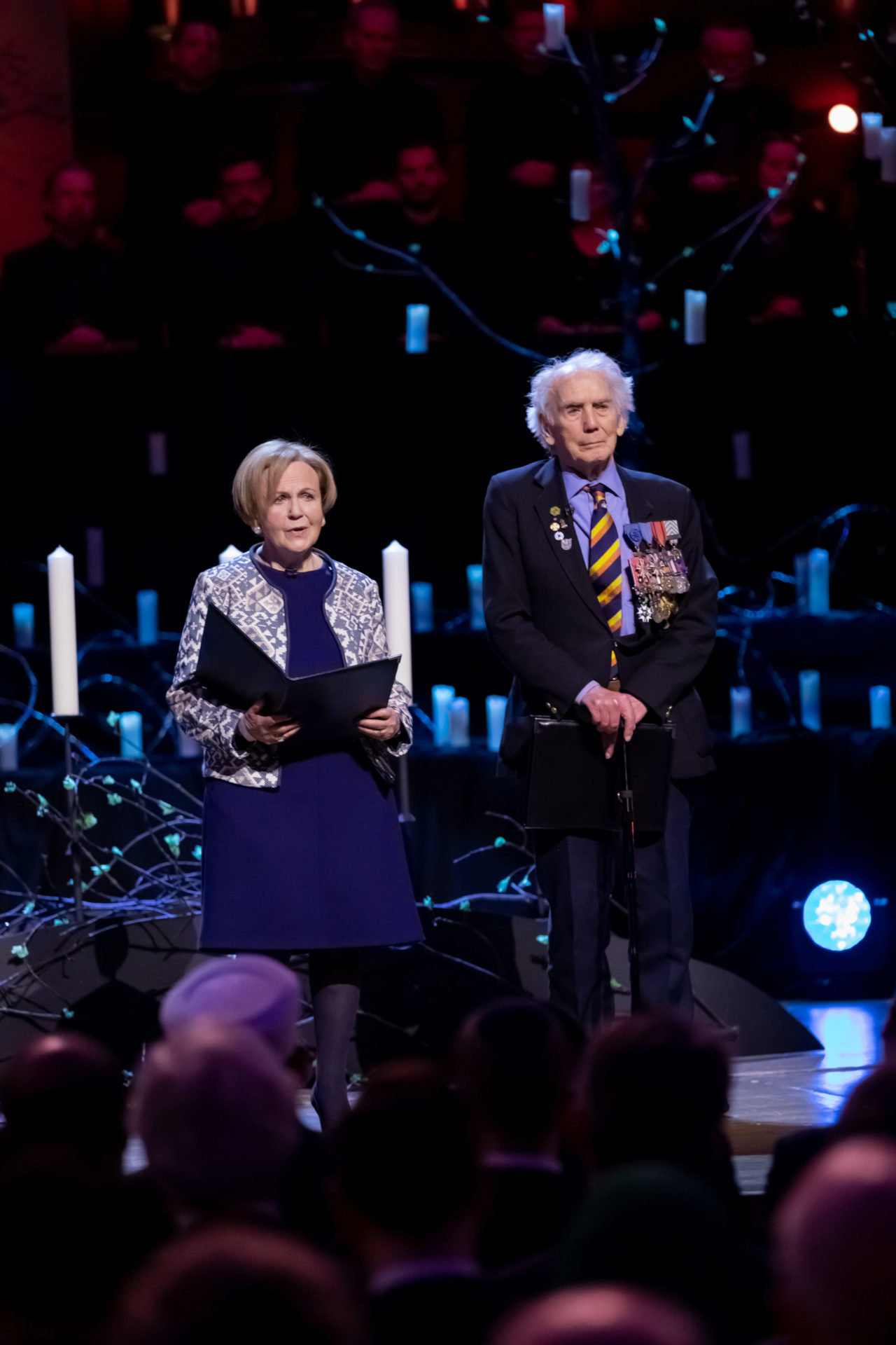 Holocaust survivor, Mala Tribich MBE and World War Two veteran, Ian Forsyth MBE, give their testimony