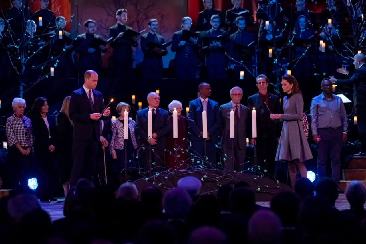 TRH The Duke and Duchess of Cambridge join survivors of the Holocaust and genocide to light candles of remembrance