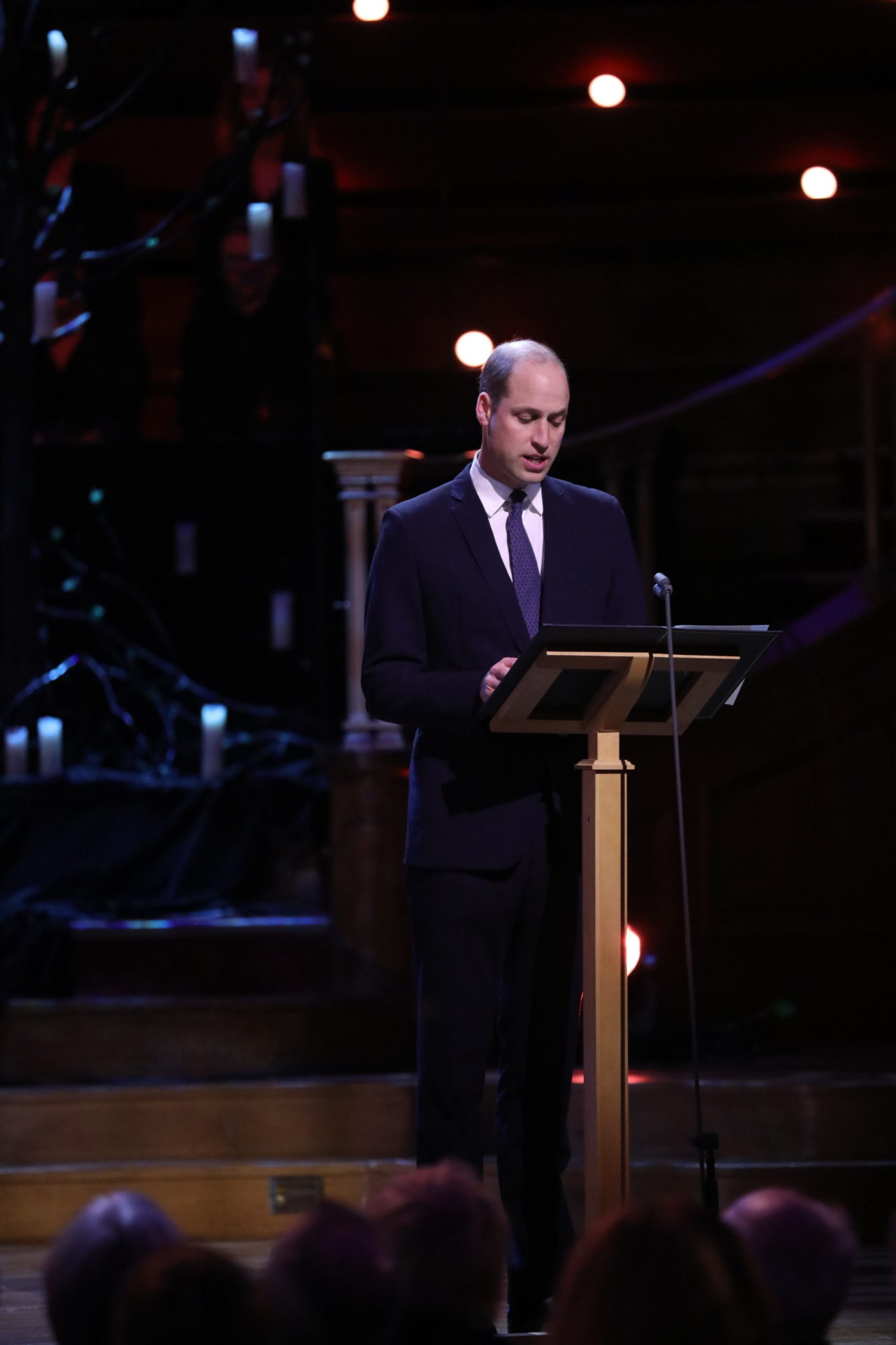 HRH The Duke of Cambridge reads an excerpt from a letter about Princess Alice, written by Demosthene Pouris to Yad Vashem in August 1992
