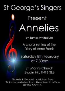 Annelies by James Whitbourn. Choral concert.