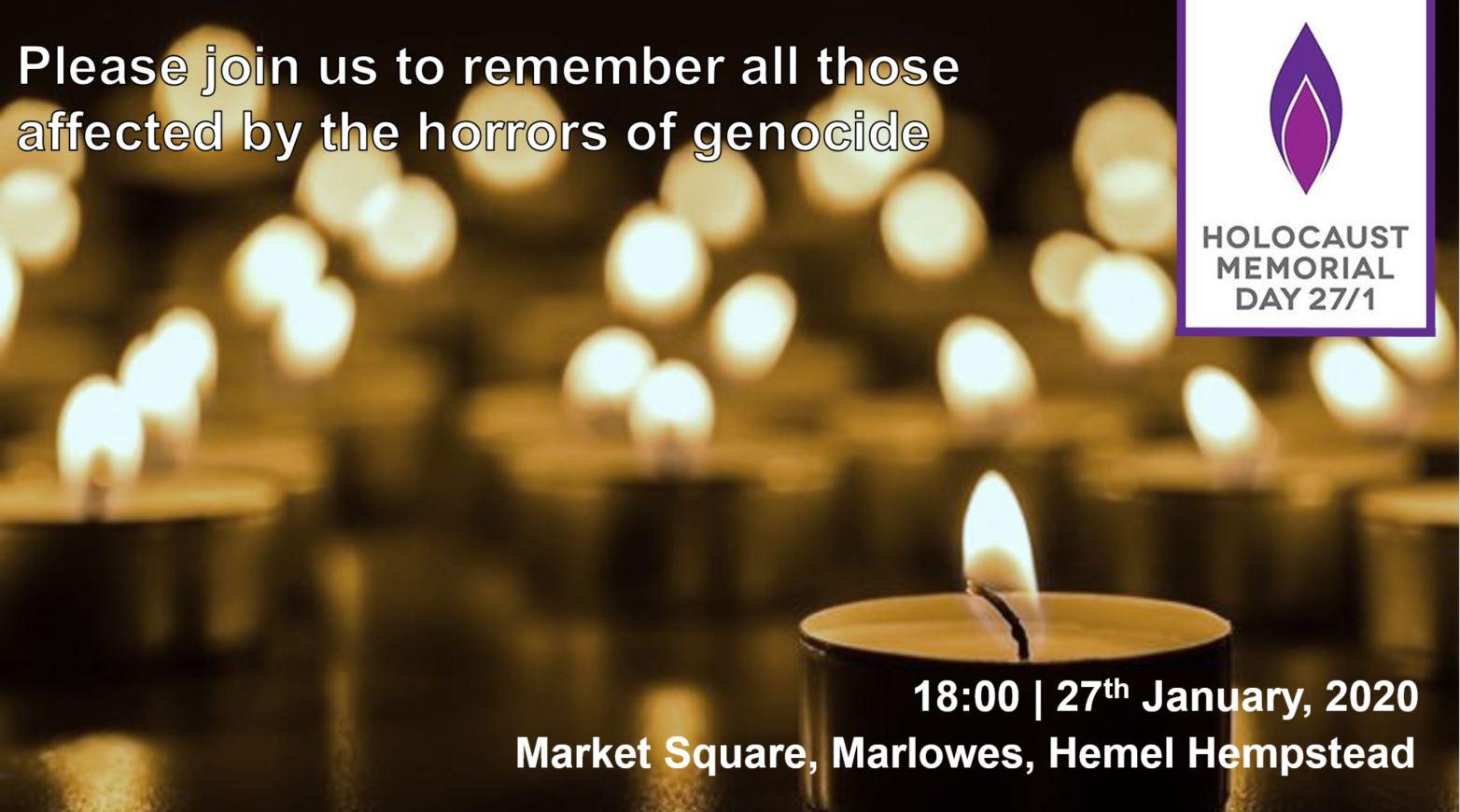 Holocaust Memorial Day Candle Vigil