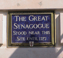 The Great Synagogue commemoration, Old Jewry, London EC2