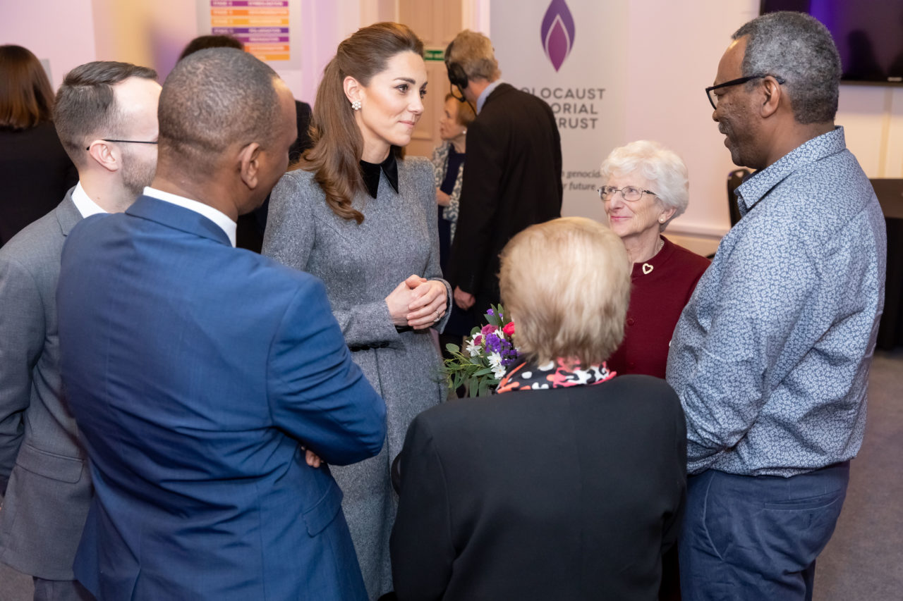 HRH The Duchess of Cambridge meeting survivors of the Holocaust and genocides