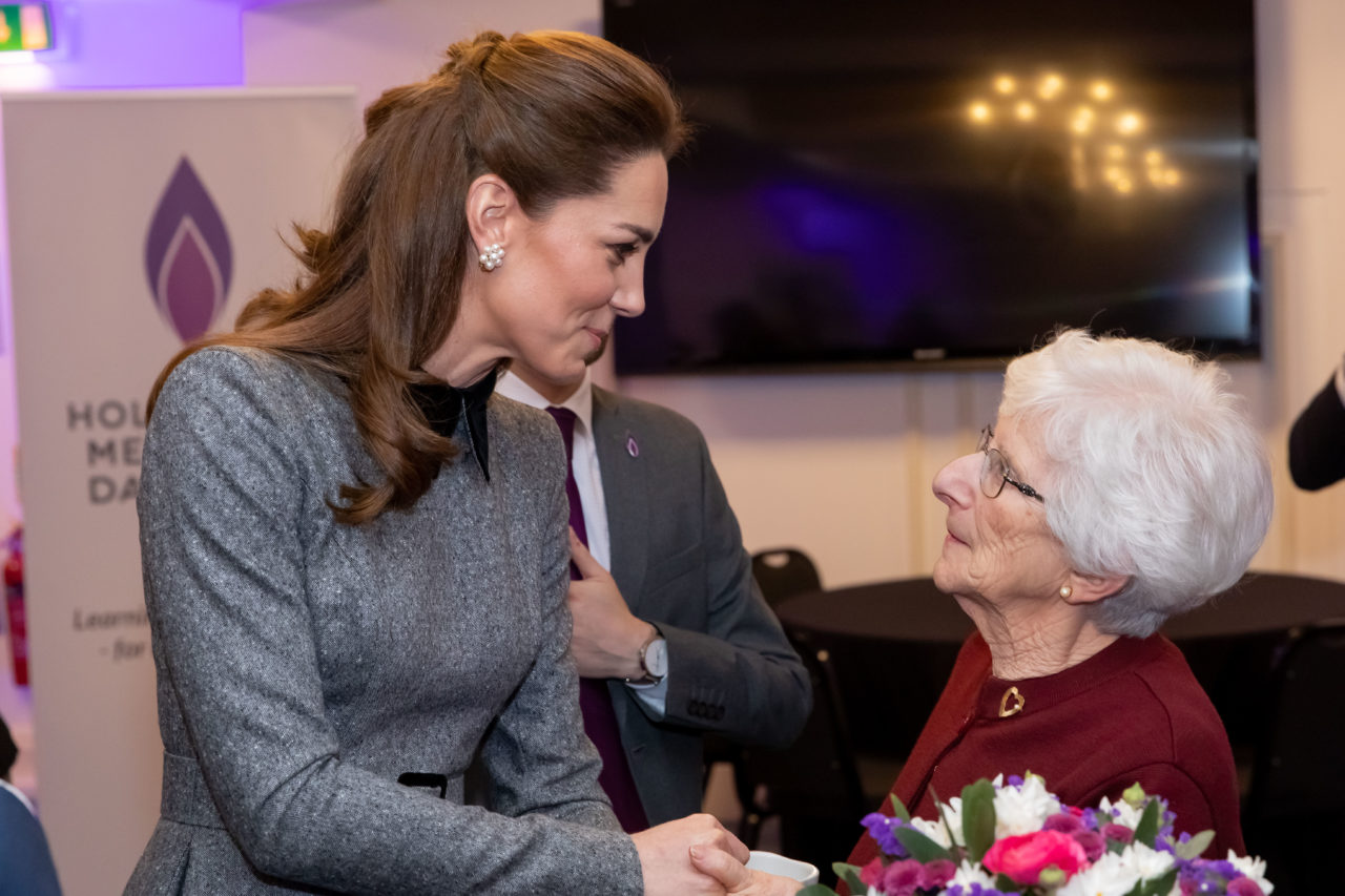 HRH The Duchess of Cambridge with Yvonne Bernstein, survivor of the Holocaust