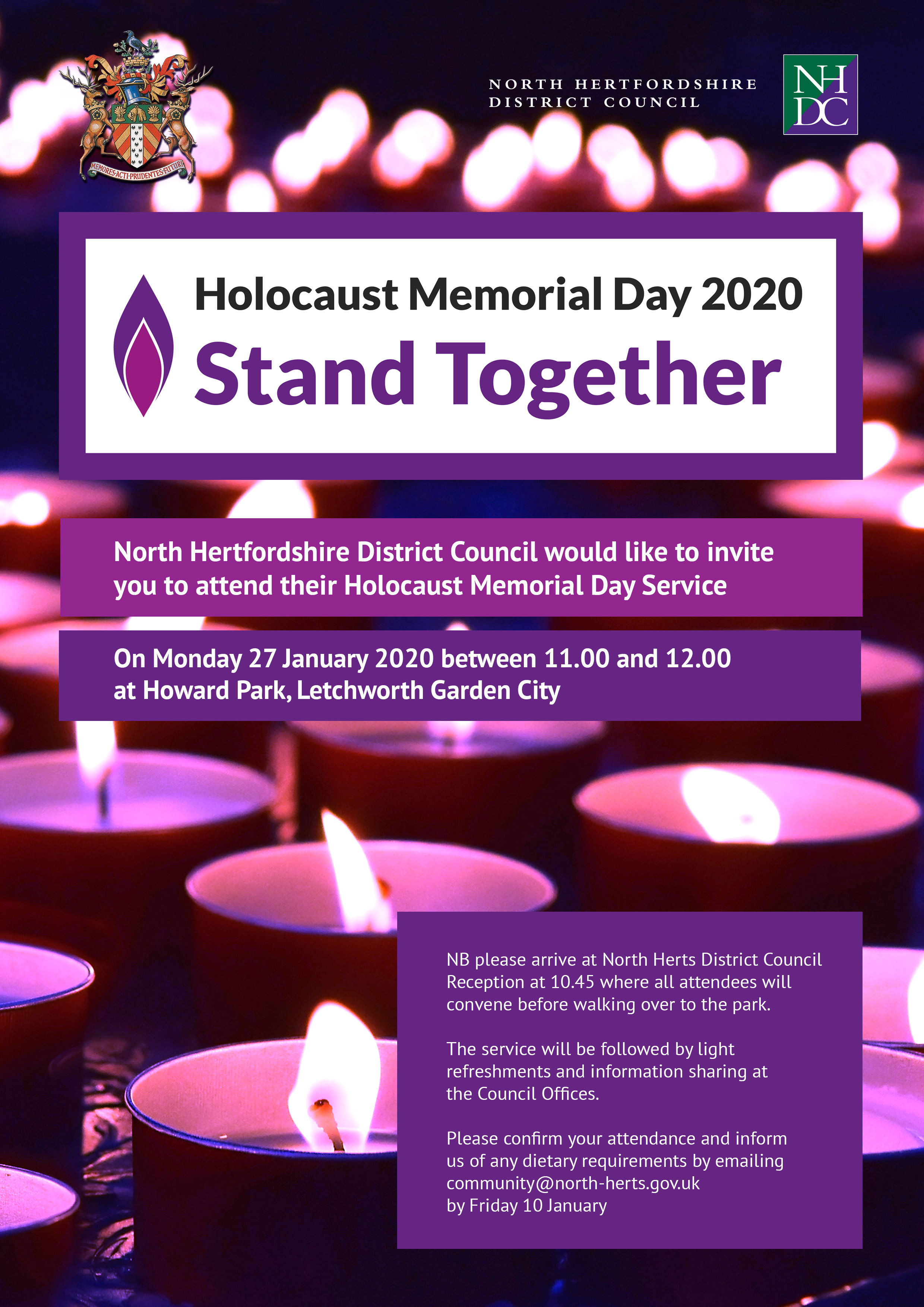 North Herts District Council Holocaust Memorial Day Service