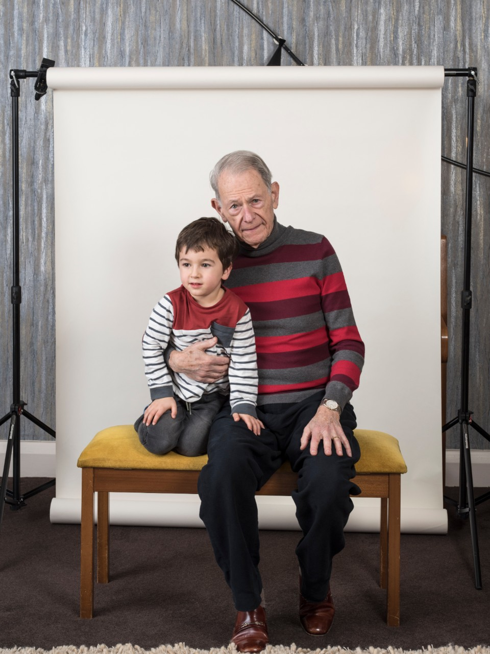 John Hajdu with his grandson, Zac, © Jillian Edelstein HonFRPS