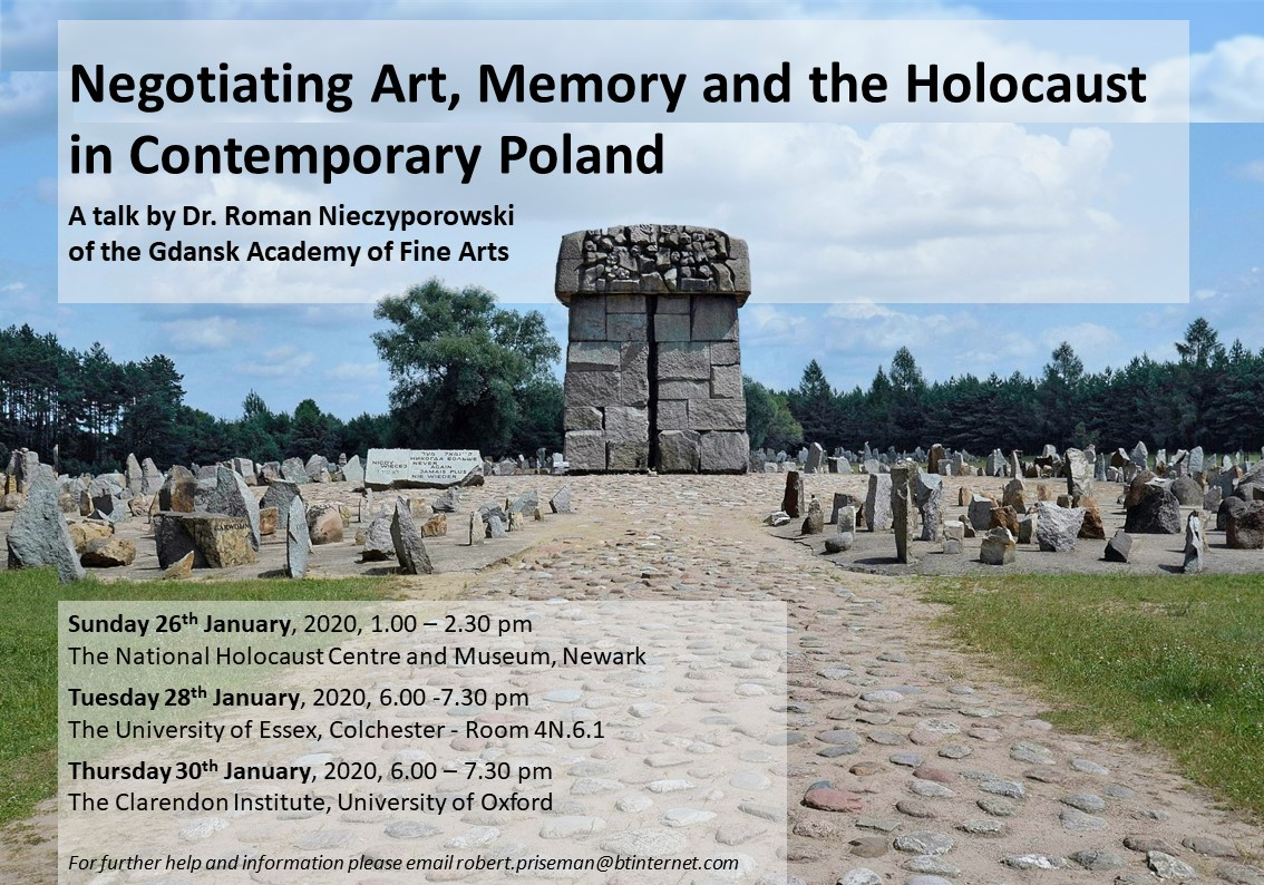 Negotiating Art, Memory and the Holocaust in Contemporary Poland Dr. Roman Nieczyporowski of the Gdansk Academy of Fine Arts