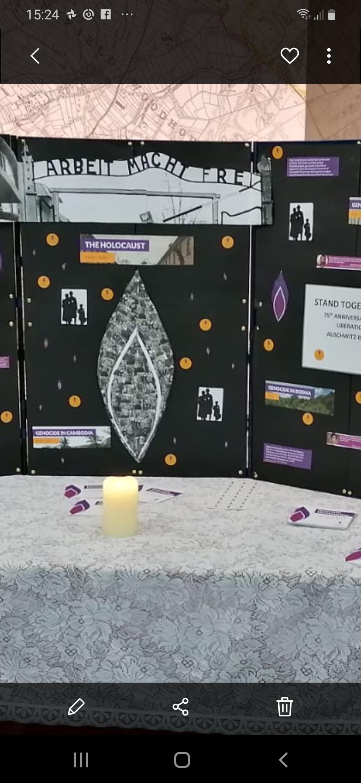 Holocaust Memorial Day display