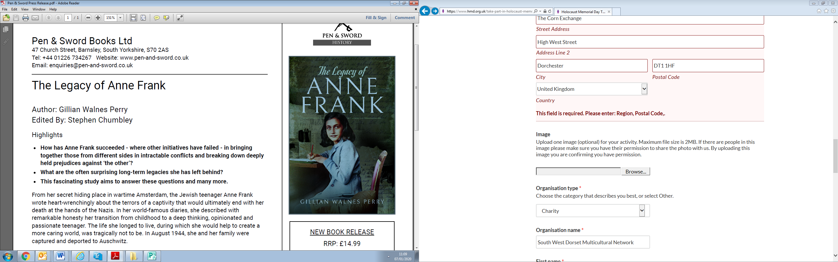 Talk: The Legacy of Anne Frank