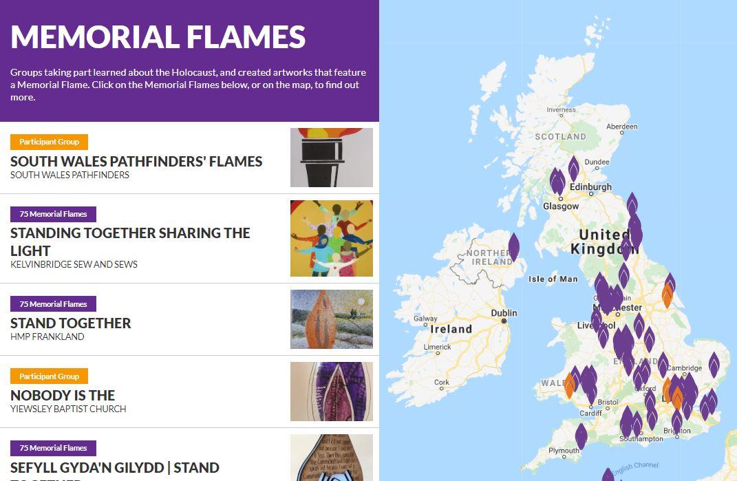 75 Memorial Flames map