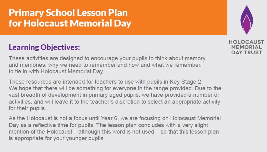 Primary lesson plan for HMD